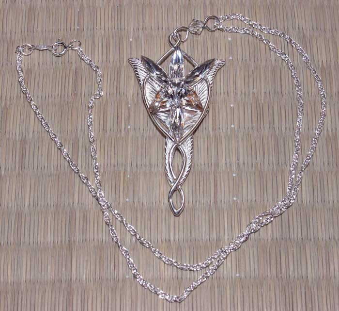 Additional photos: LOTR Arwen's Evenstar Pendant Silver