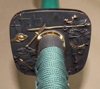 Additional photos: Samurai Katana - Samurai Tsuba Green