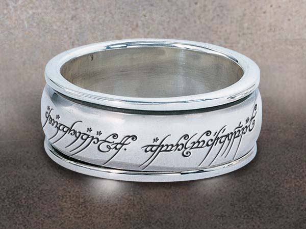Additional photos: Lord of the Rings Revolving Elvish Script Ring