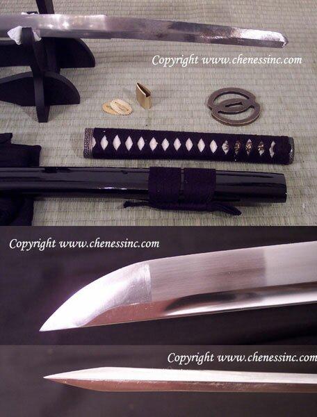 Cheness Tenchi - 9260 Silicon Alloy Spring Steel Katana w Bohi