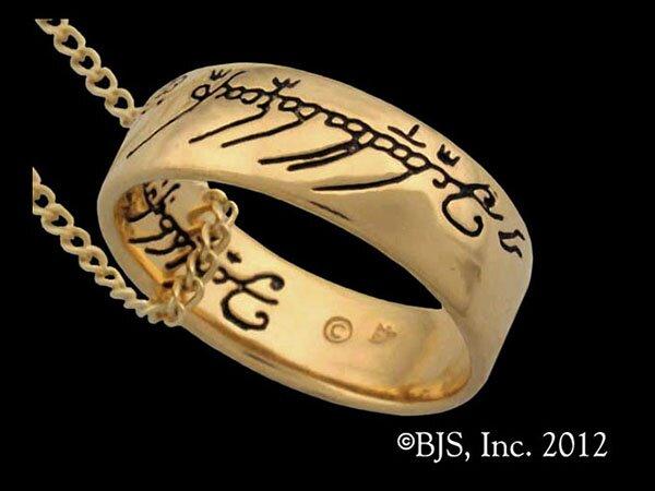 LOTR Gollum Gold Necklace Black