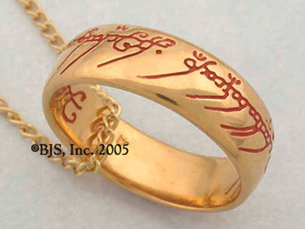 Additional photos: LOTR Gollum Gold Necklace Red