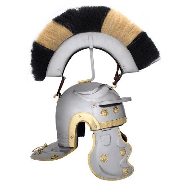 Roman Gallic Helmet, Black and White Crest
