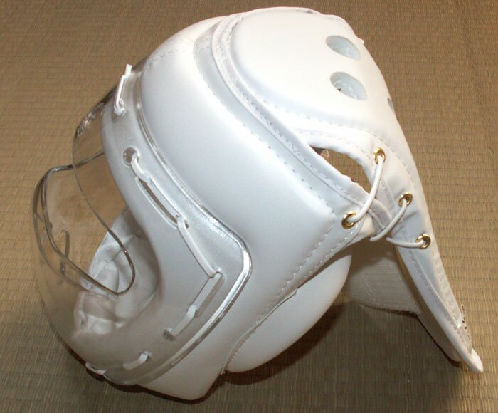 Additional photos: PU Head Guars White with mask
