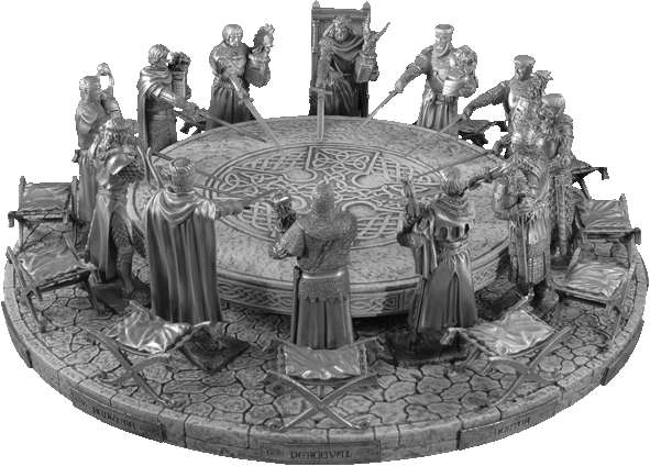 Additional photos: Figure King Arthur Throne - Knights of the Round Table - Les Etains Du Graal
