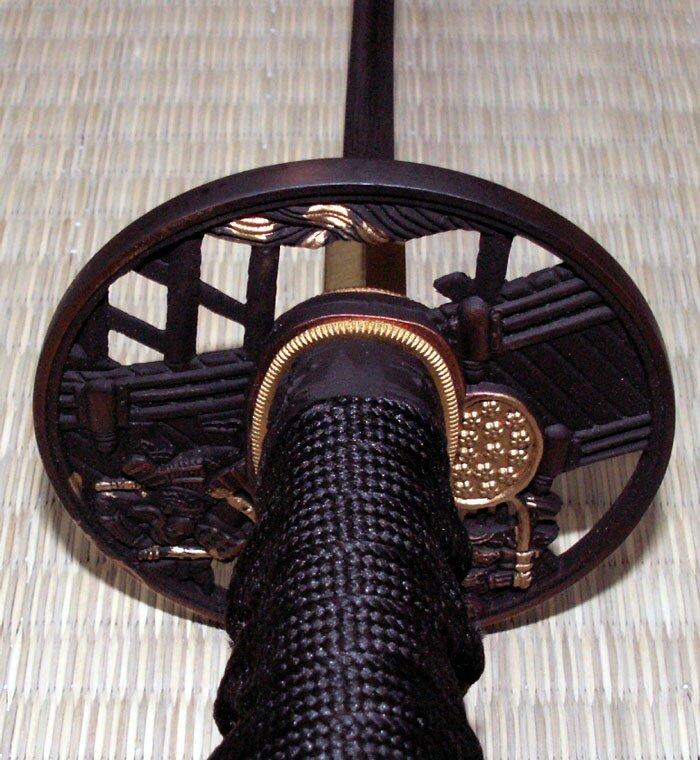 Additional photos: Ten Ryu Damascus Sword Samurai Battle Tsuba