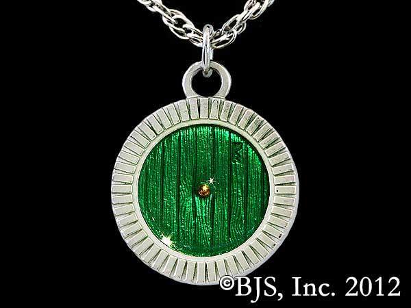 Hobbit Bronze Bag End Door Necklace