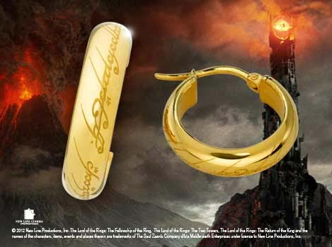 Additional photos: Lord of the Rings Earrings The One Ring (gold plated)