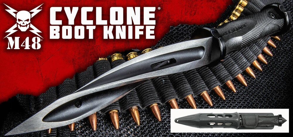 Additional photos: Knife United Cutlery M48 Cyclone Boot Knife With Custom Vortec Sheath