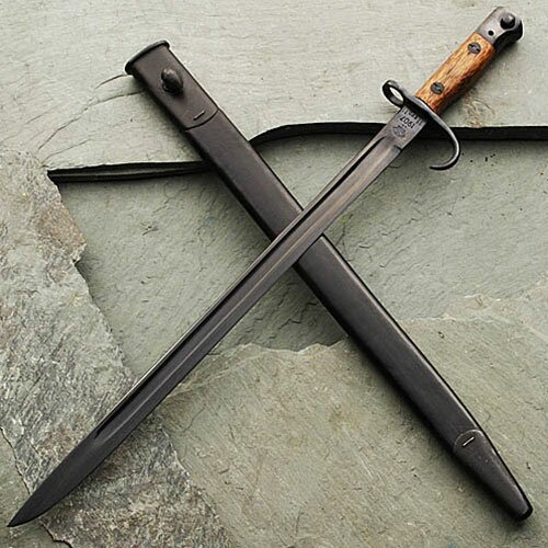 1907 Bayonet w/ Hooked Quillion & Sheath