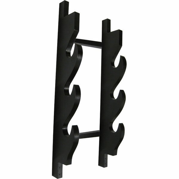 3 Sword Wooden Wall Display