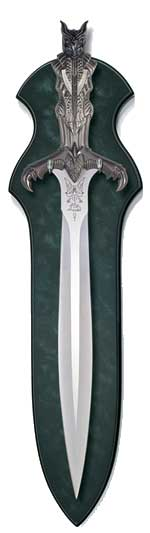Bast - Egyptian Short Sword - Antique Silver