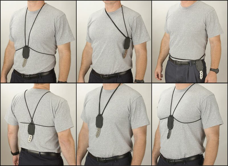 how to carry a knife on your back
