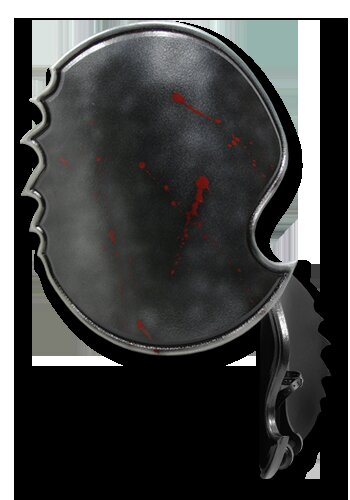 Chaos 2nd Edition Round shield bloody 75x65cm