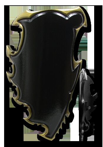 Chaos 2nd Edition Shield black/gold 95x60cm