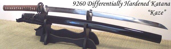 Cheness Kaze - 9260 Differentially Hardened Spring Steel Katana