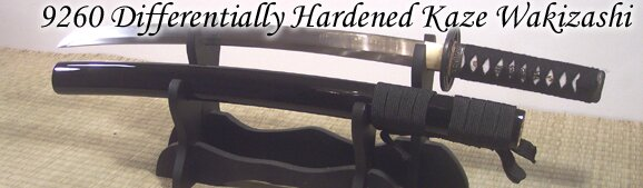 Cheness Kaze - 9260 Differentially Hardened Spring Steel Wakizashi