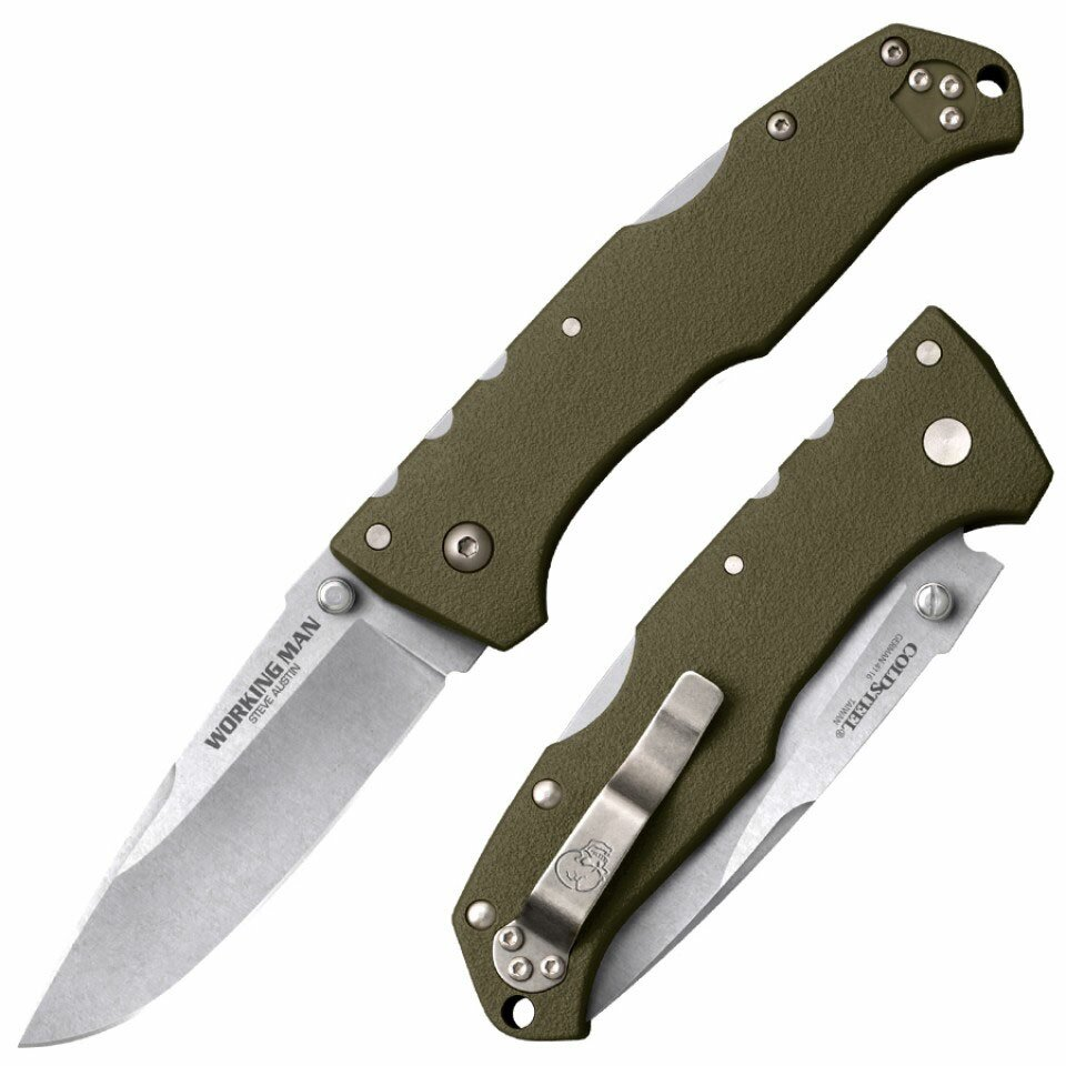 Cold Steel Steve Austin Working Man (OD Green) Knife