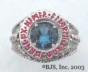 Dwarven Ring of Power - Blue Zircon