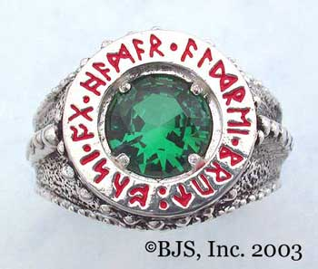 Dwarven Ring of Power - Emerald