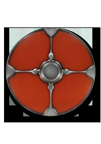 Gaelic 2nd Edition round shield red 75cm