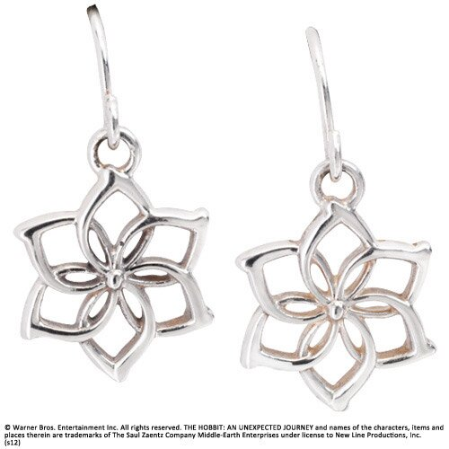 Galadriel Flower Earrings Sterling Silver - The Hobbit