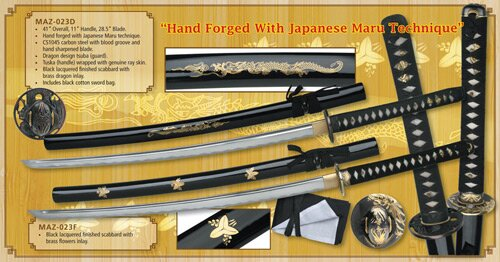 Hand Forged Katana With Japanese Maru Technique