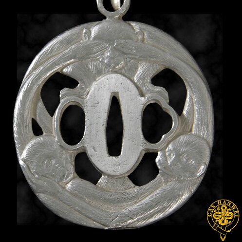 Hanwei Three-Monkey Tsuba Pendant