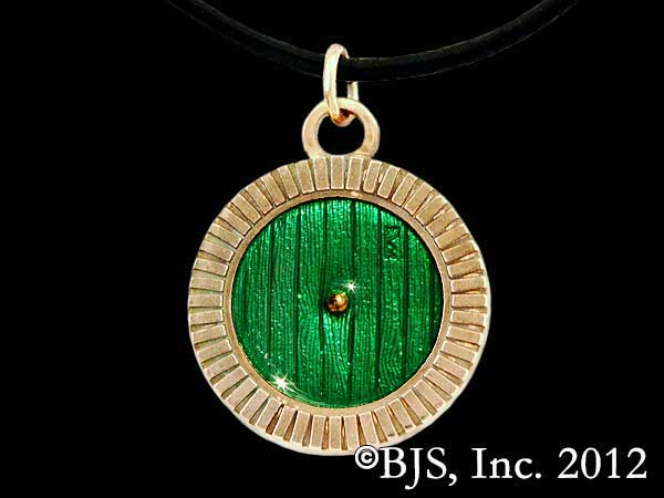 Hobbit Bronze Bag End Door Necklace