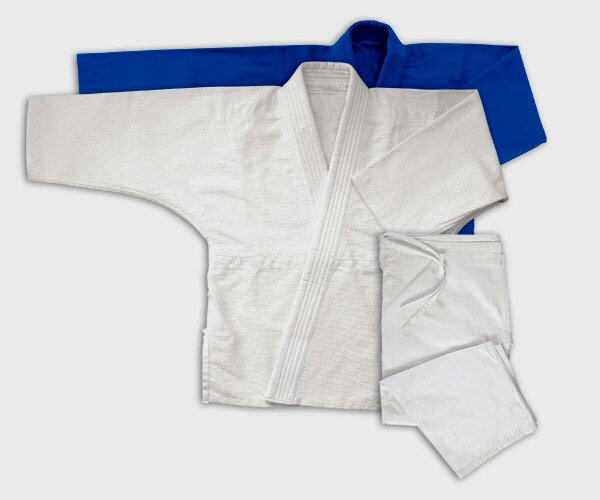 Jiujitsu Gi Double Weave White For Judo and JiuJitsu 17oz