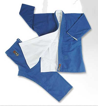 Judogi blue-white double reversible 16oz