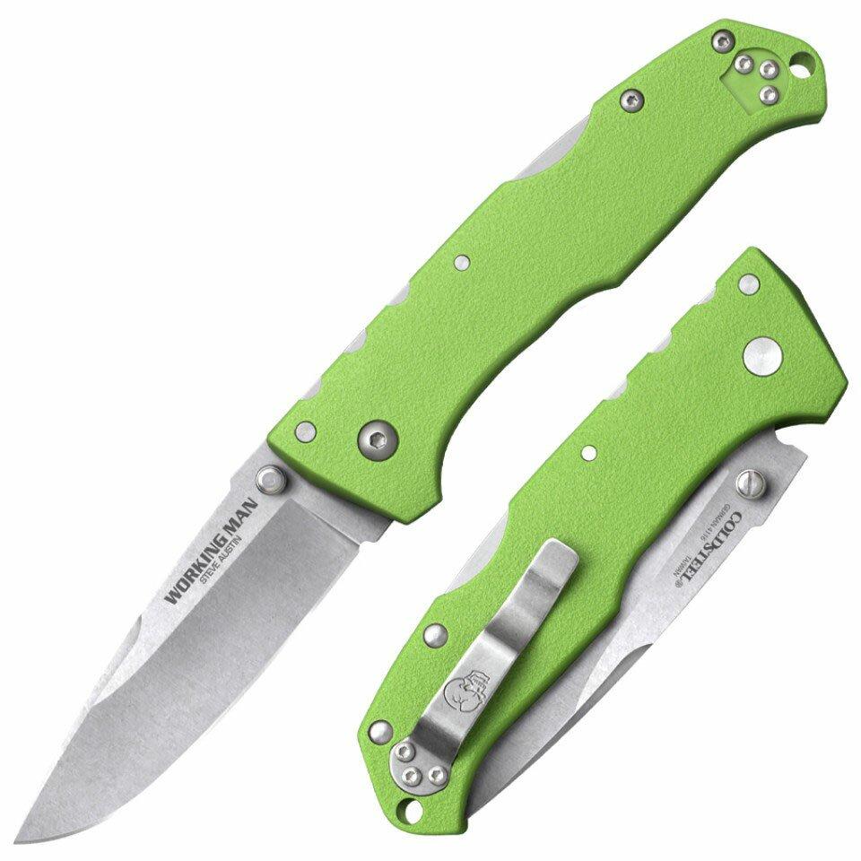 Knife Cold Steel Steve Austin Working Man (Neon Green)
