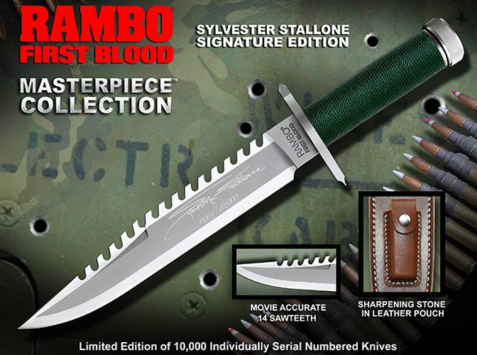 Knife Rambo I Sylvester Stallone Signature Edition Hollywood Collectibles Group