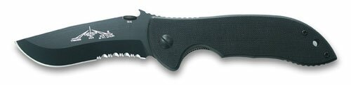 Knife Emerson Mini Commander Black Serrated