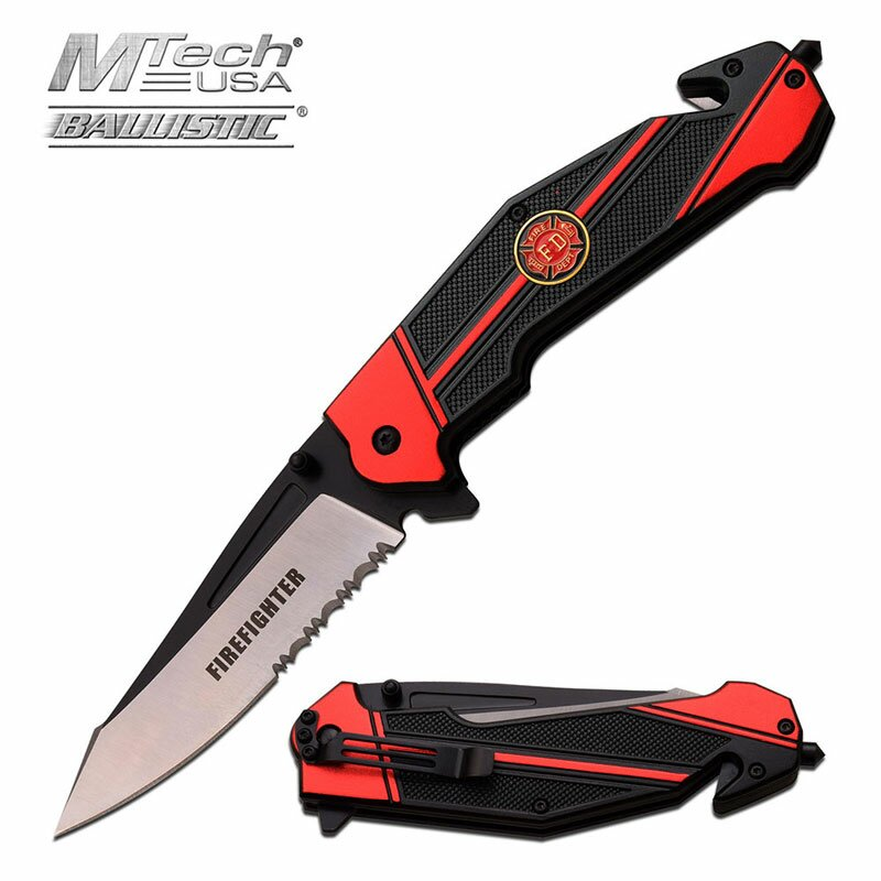 Knife M-Tech Ballistic Firefighter Spring Assisted
