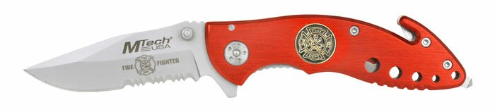 Knife M-Tech Fire Fighter Rescue Knife Red