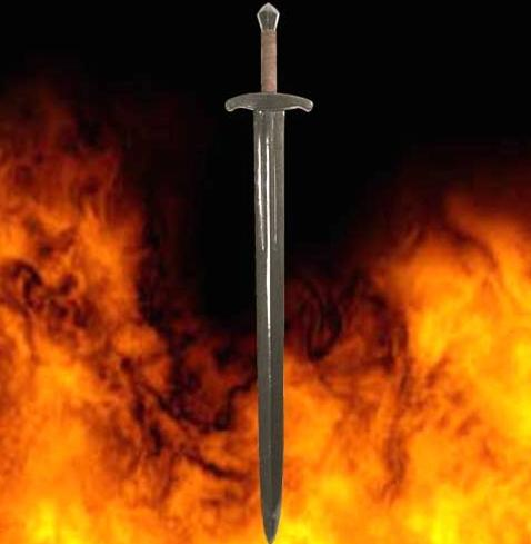 LARP Black Prince Sword - Latex