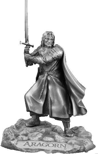 LOTR Aragorn Figure - Les Etains Du Graal
