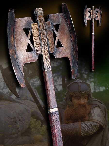 LOTR Battle Axe of Gimli - Noble Collection