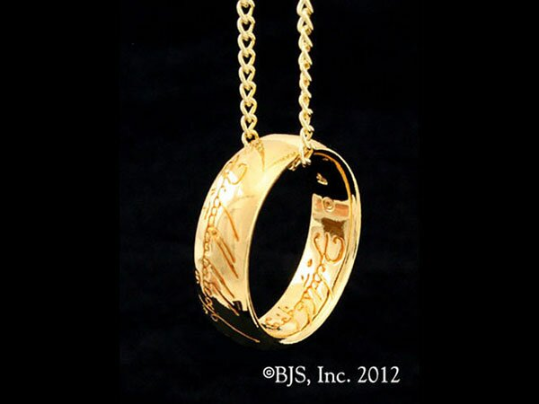 LOTR Gollum Gold Necklace Red