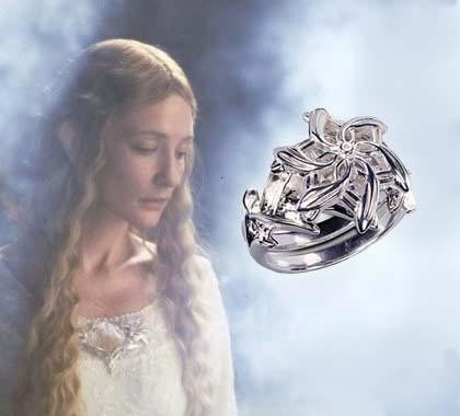 Lord of the Rings: Galadriel's Ring - Silver plated