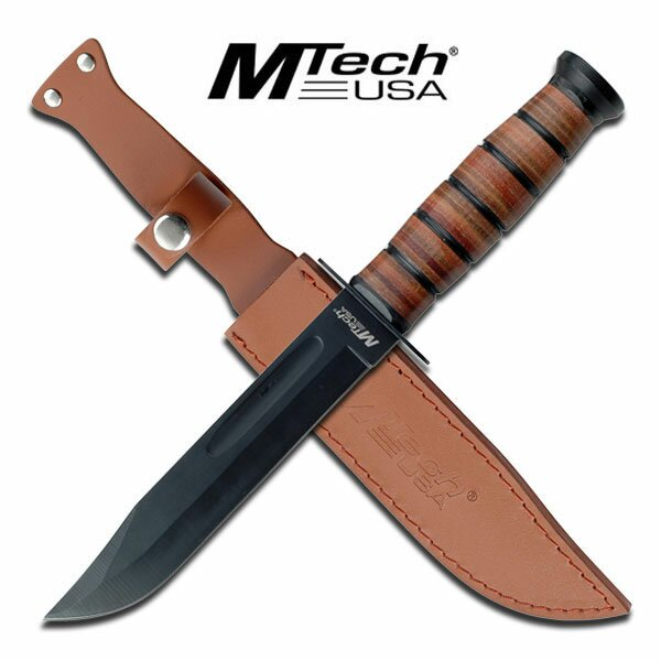 MTech USA Fixed Blade Military Knife 12'' Overall