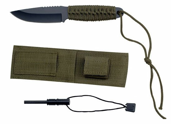 Master Cutlery Camping Knife with Sheath and Firestarter