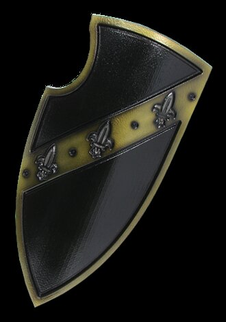Medieval 2nd Edition Gralsritter Shield black 105x50cm