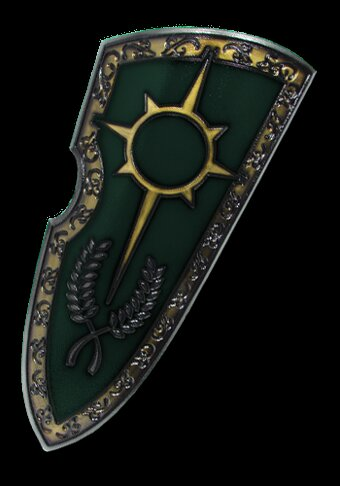 Medieval 2nd Edition Paladin Shield green 120x50cm