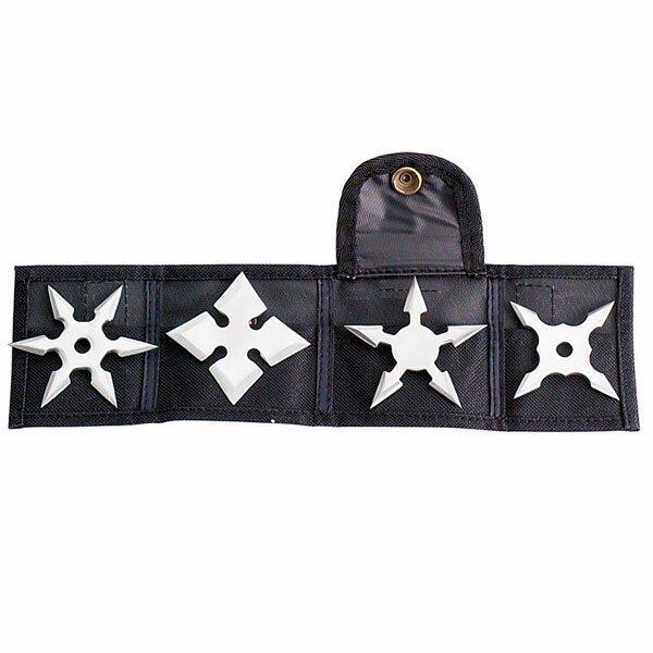 Mini Throwing Star 2.5'' - 4pcs/set w/pouch