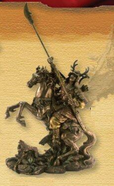 Miniature Samurai with Naginata