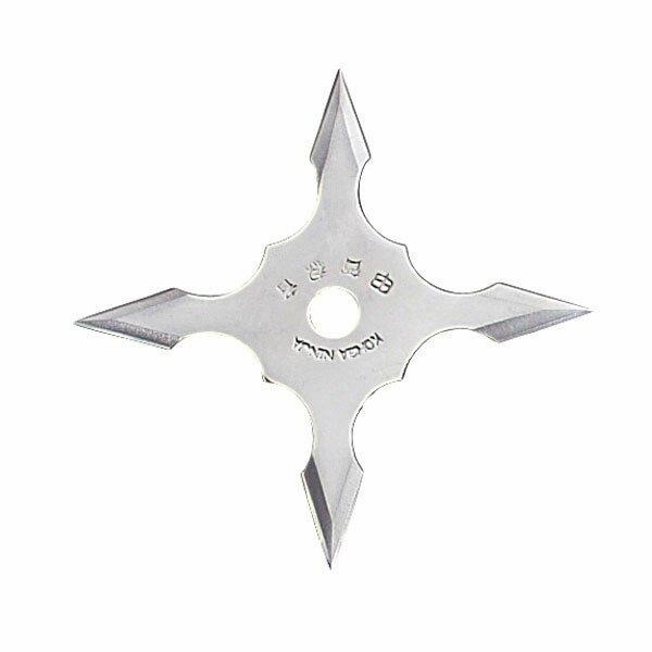 Ninja Star 4Pt SS 4'' w/pouch