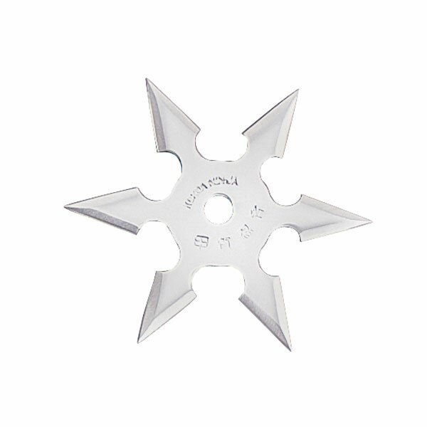 Professional Ninja Throwing Star 6Pt SS 4'' w/pouch