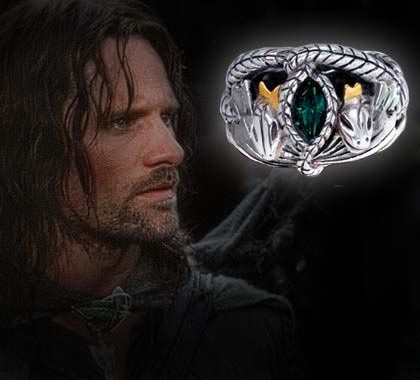 Replica Barahir - The Aragorn Ring - LOTR